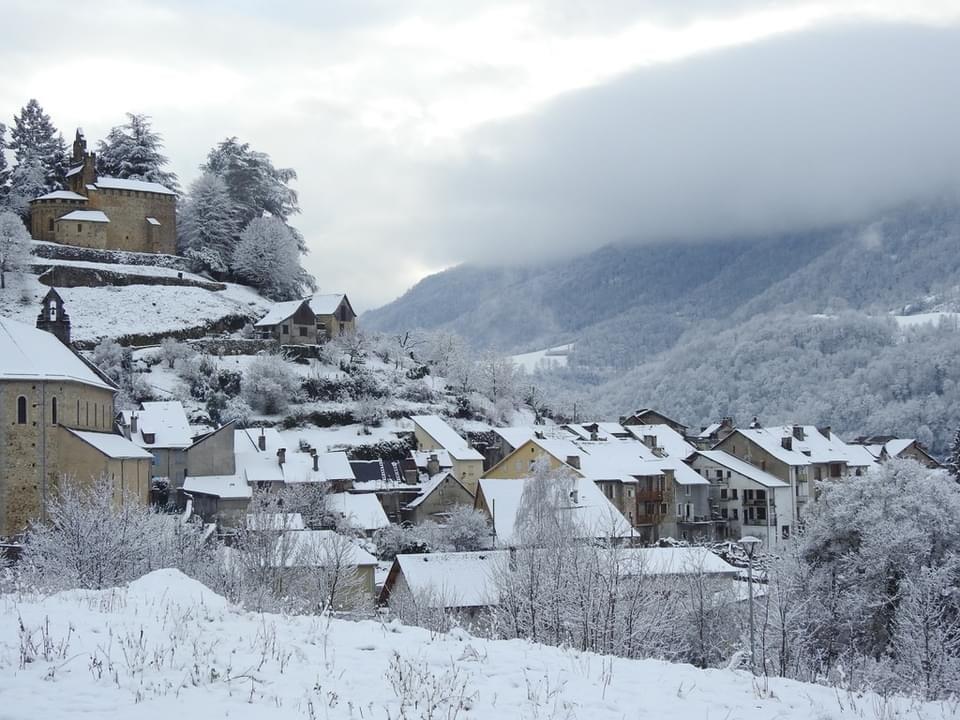castillon-en-couserans sous la neige